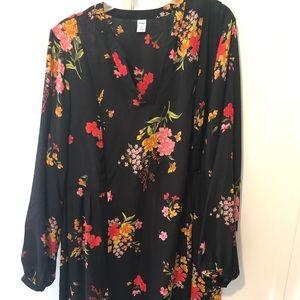 Old navy black flower dress